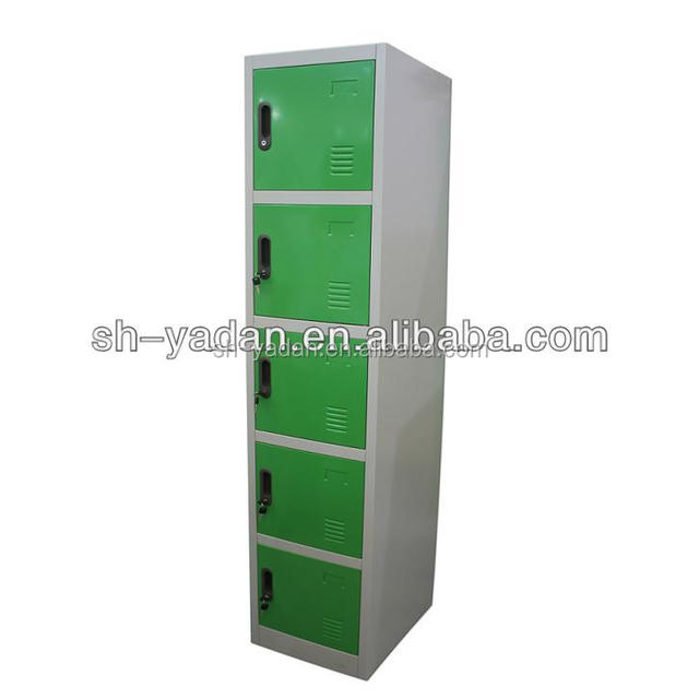 new style white hot selling five Doors stair furniture cabinet metal locker