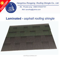 [Cheap building material] colorful laminated asphalt roofing shingles prices