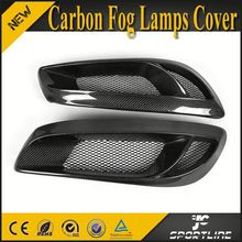 Real Carbon Fiber Mask Fog Light Covers For Hyundai Genesis Coupe 2009