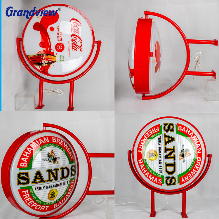 Double-sided Outdoor Rotating Light Box outdoor light sign