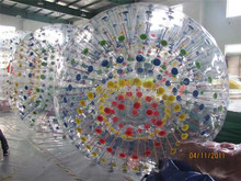 Colorful inflatable plastic bubble ball for sale
