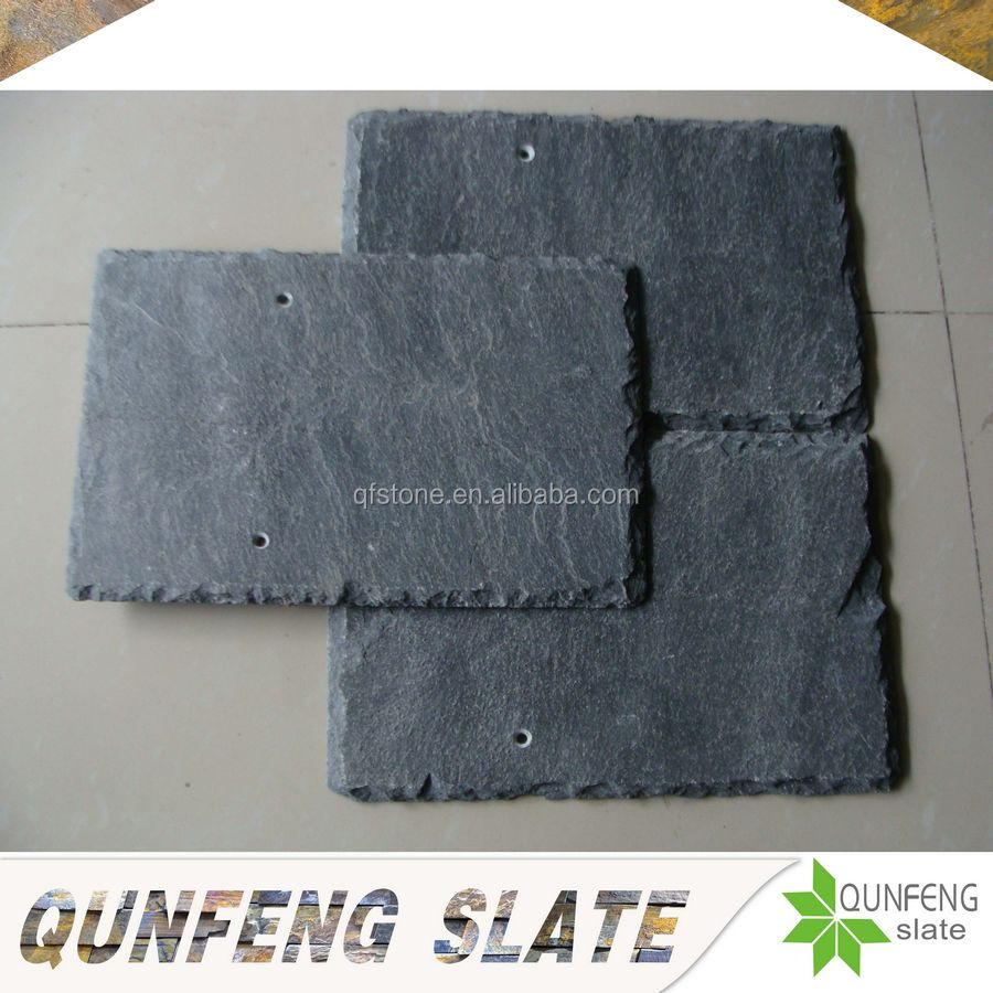 jiujiang qunfeng hot sale natural grey stone slate tile indoor roofing materials