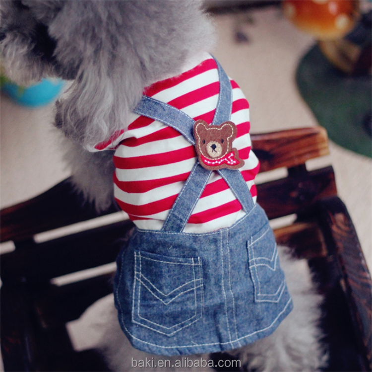 Hot Sale Pet Clothes with Two Legs Cowboy Dog Clothes Dress