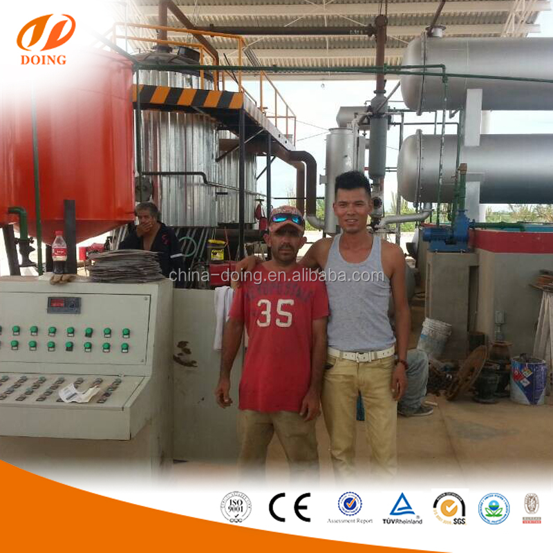 Waste disposal solutions crude oil refinery machine/waste tyre oil recycling machine