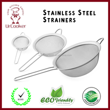 Fine Mesh Strainer & Sieve | Set of 3 | Super 15 lb Weight Handling Capacity | Restaurants & Home Cooking Use