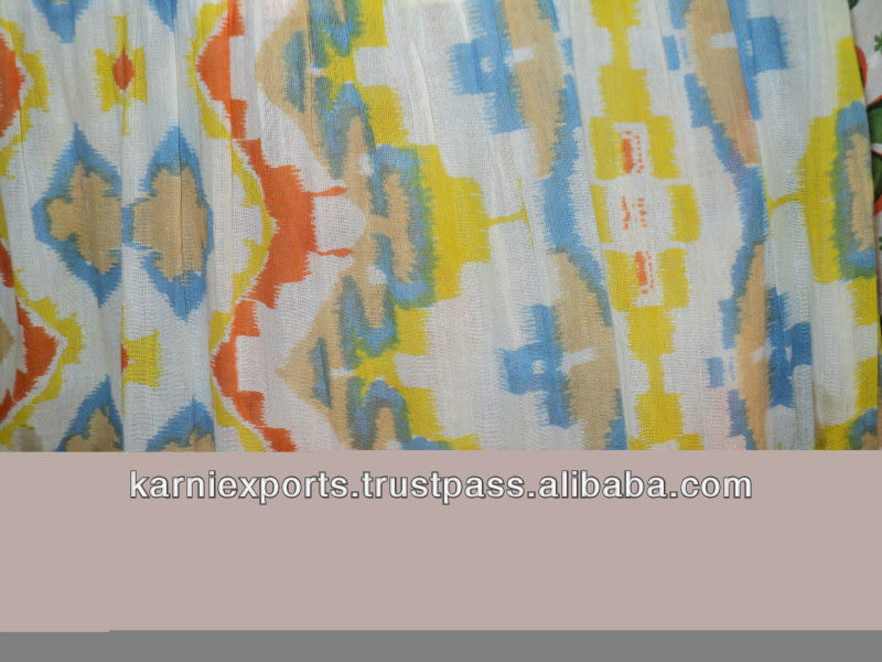 zigzag print cotton soft printed fabrics jaipur made indian ethnic sanganeri print fabrics