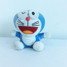 blue plush standing japanese cat stuffed toy