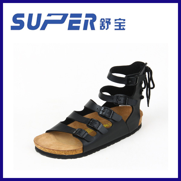China Manufactures of Sandals Women Quality Lady Pu Sandal