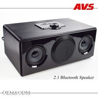 AVS OEM ODM high quality good bass old fashion custom logo 2.1 channels multimedia bluetooth speaker