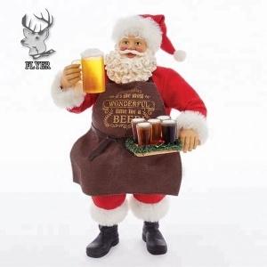 Hand Painted Giant Resin Christmas Santa Claus Statue Figurines