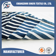JF16171 Factory Main Products Knitted Technics blue white stripe fabric