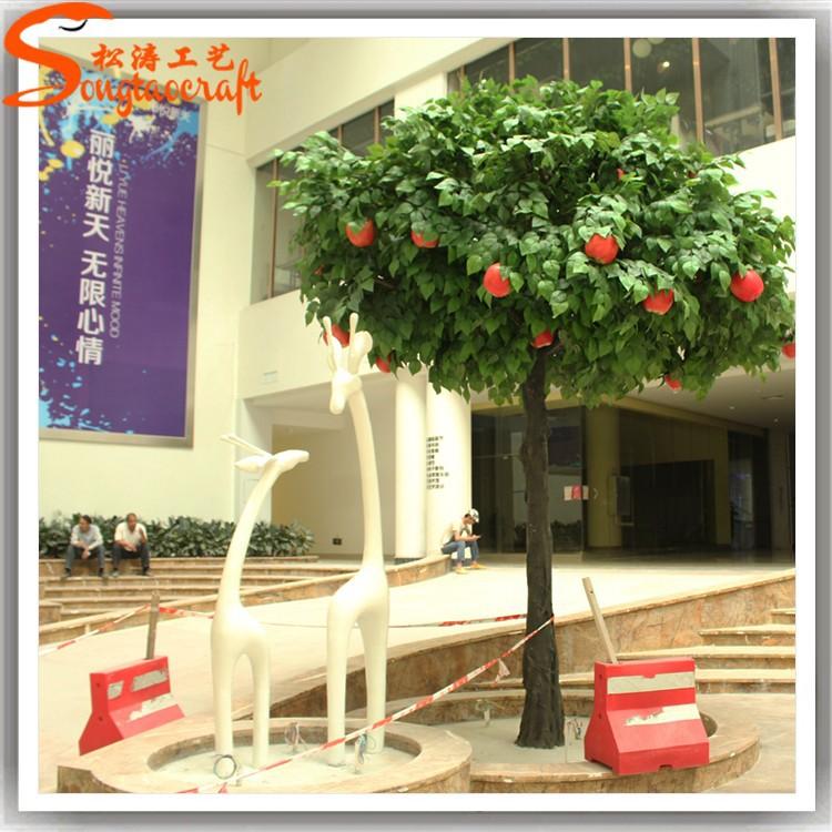 Indoor decoratieve nep appelboom grote plastic appels te for Nep fruit waar te koop