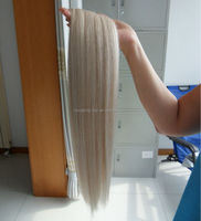Factory Wholesale 120g 160g 200g clip in virgin human european hair extensions
