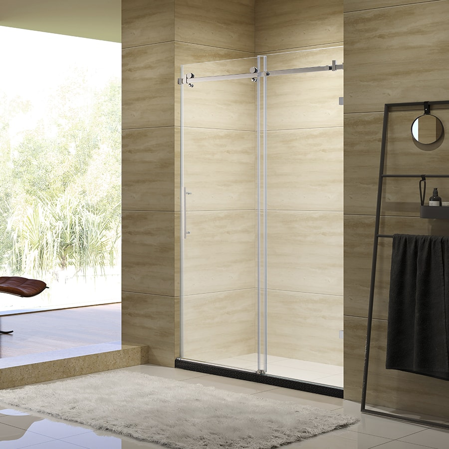 <strong>H07</strong> framed stainless steel style 10mm tinted frosted glass shower door with neo angle