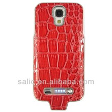 3000mah rechargeable extended Battery leather case for SAMSUNG galaxy S4 i9500