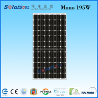 195w monocrystalline solar cell for electricity solar board solar panel
