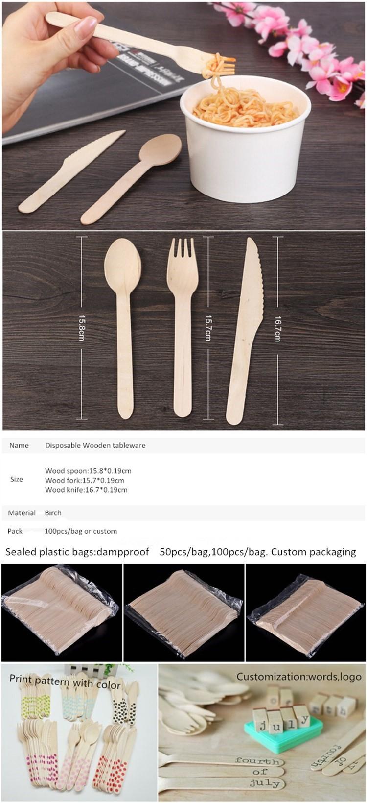 2017 Homegarden Tableware Wooden Spoons Knifes Forks Buy Home Sendok Kayu Garpu Cutlery Spoon Fork 022