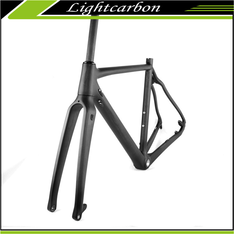2017 LightCarbon Cyclocross Carbon Frame Disc brake Frame Factory Cheap Cost LCX027-D