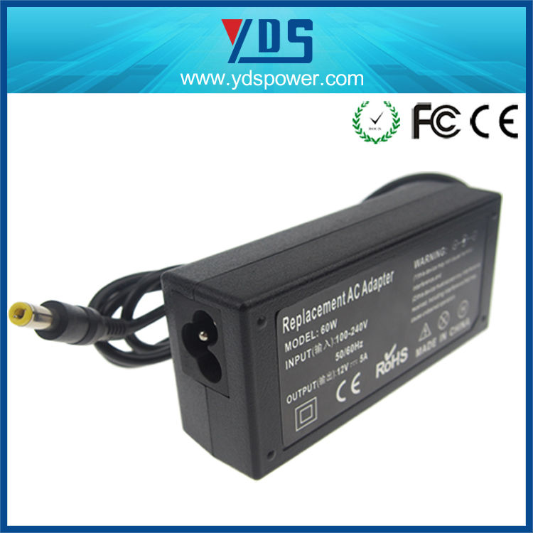 Replacement Desktop 12V 5A 60W power inverter dc 12v ac 220v circuit di / Laptop Charger / Notebook charger / 12V power adapter