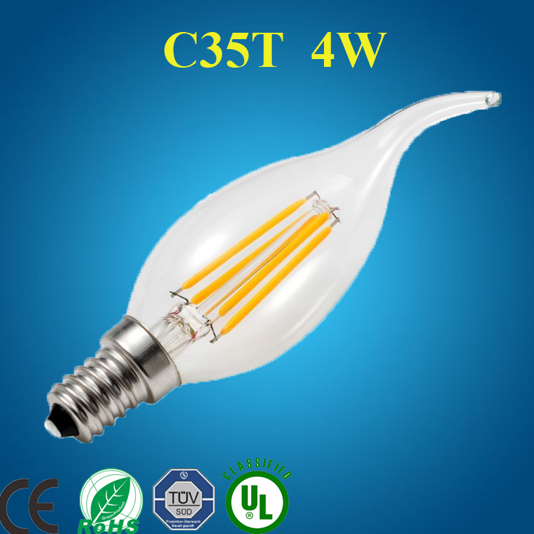 C35T dimmable led bulb 2700k CL 4w e14 led candle light