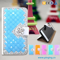 Luxury crystal rhinestone diamond flip stand wallet leather cover For Acer Liquid Z630S bling bling case