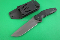 OEM outdoor fixed blade G10 handle hunting survival knife blade
