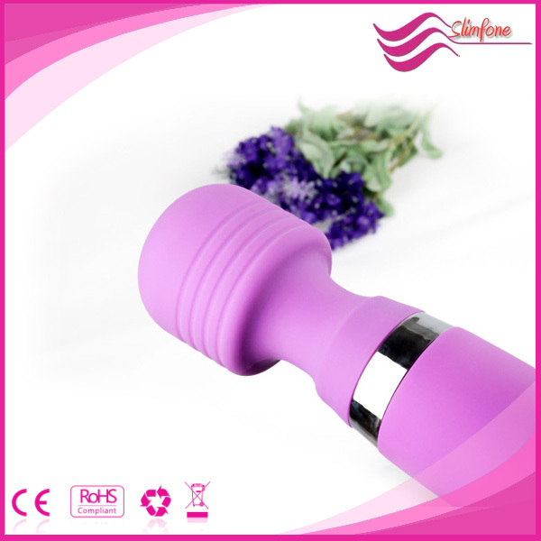 100% waterproof silicone magic wand massager , rechargeable magic wand adult toy