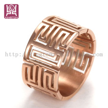 Openwork carving stainless steel ring