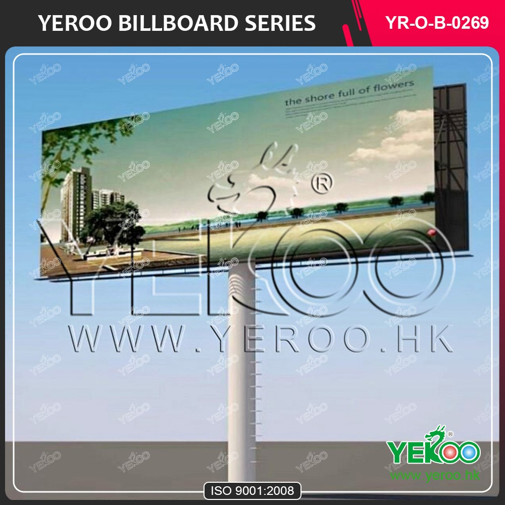 Double Sides Pole Standing large billboard
