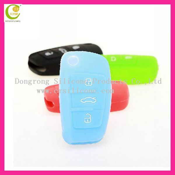 100% eco-friendly silicone material camry best decration car key cover promotional gift for vw transponder key shell