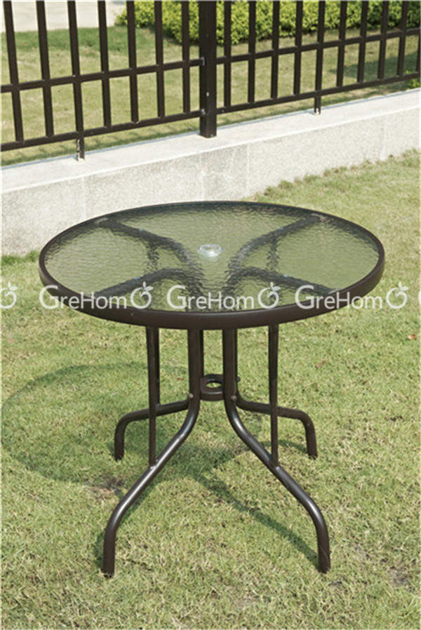 meubles de patio starbucks coffee table et des chaises avec trou pour parasol outils de jardin. Black Bedroom Furniture Sets. Home Design Ideas