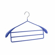 Hot sell colorful PVC coated iron wire multi-layer car clothes hanger rack