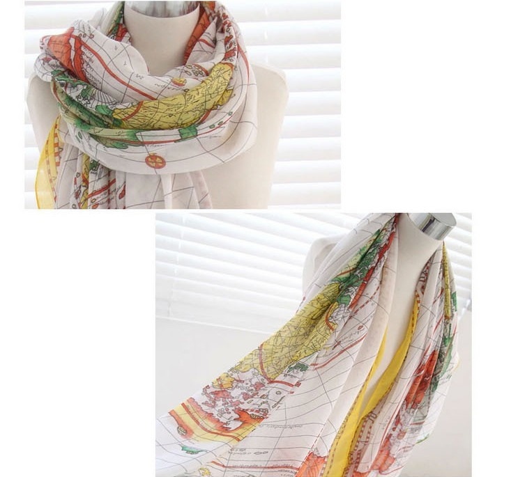 Neck printed fashion knitting pattern custom made scarf