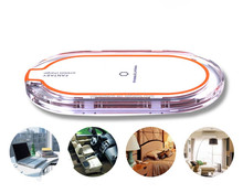 Crystal Qi 3 coil wireless charger 5v 2a Pad For Samsung Galaxy S6 S7 Note 5 Qi Wireless Charging For Qi Enabled Device