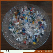 Multi colors crushed recycled glass chip for terrazzo