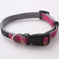2016 Factory supply beautiful high quality nylon woven heated dog collar,pet dog collar