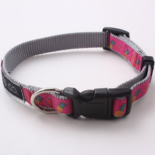 2016 Factory supply beautiful high quality nylon woven heated dog collar,pet dog collar