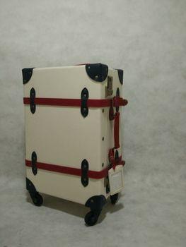 PU Vintage LuggageTrunk Trolley Luggage With Wheel Fashion Suitcase
