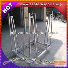 Used crowd barrier trolley or crowd barricade cart or traffic barrier cart