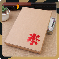 Christmas promotional hot foil logo brown craft gift paper box