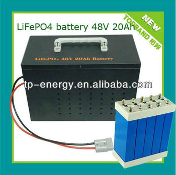 Rechargeable LiFePO4 48V 20ah Battery Pack for Bike with BMS Protection