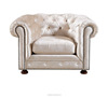 New Products Modern Tufted Velvet Fabric Living Room Sofa with Nailhead Trim