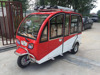 Economic full closed electric 3 wheel tricycle passenger taxi for sale