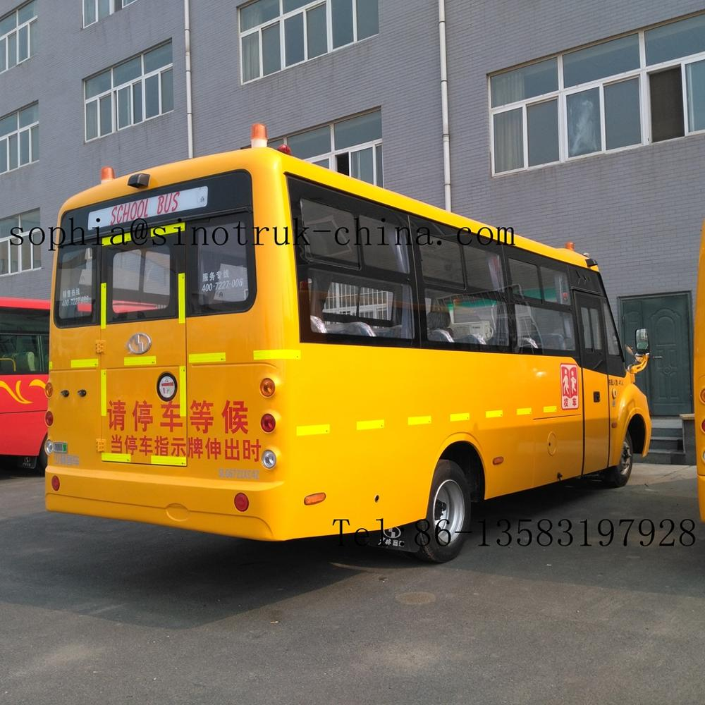 Americian style school bus,zhongtong bus price RHD