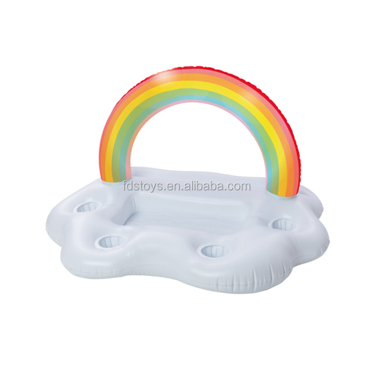 Inflatable cooler bar rainbow floating bar