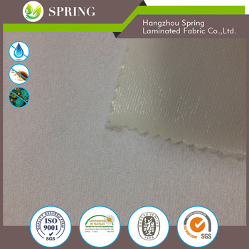 White color Terry cloth for waterproof mattress protector