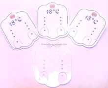 Clear PVC earring card with special paper