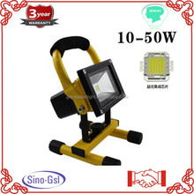 Battery operated 2015 newest Portable Waterproof 10W/20W Rechargeable LED Flood Spot Work Light Outdoorfor sale with CE approved
