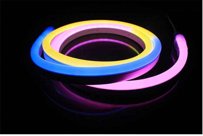 Amazing color chasing 24V IP67 magic digital rgb led neon