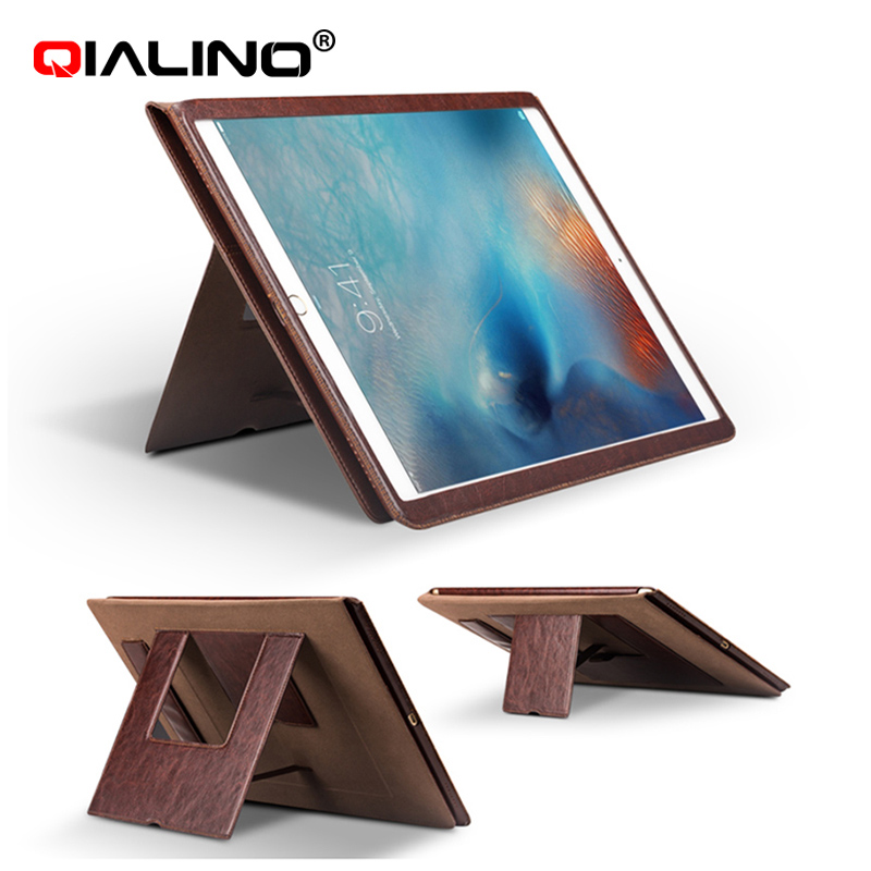 QIALINO 2016 Trending Products Leather Stand Case For ipad pro 12.9 inch